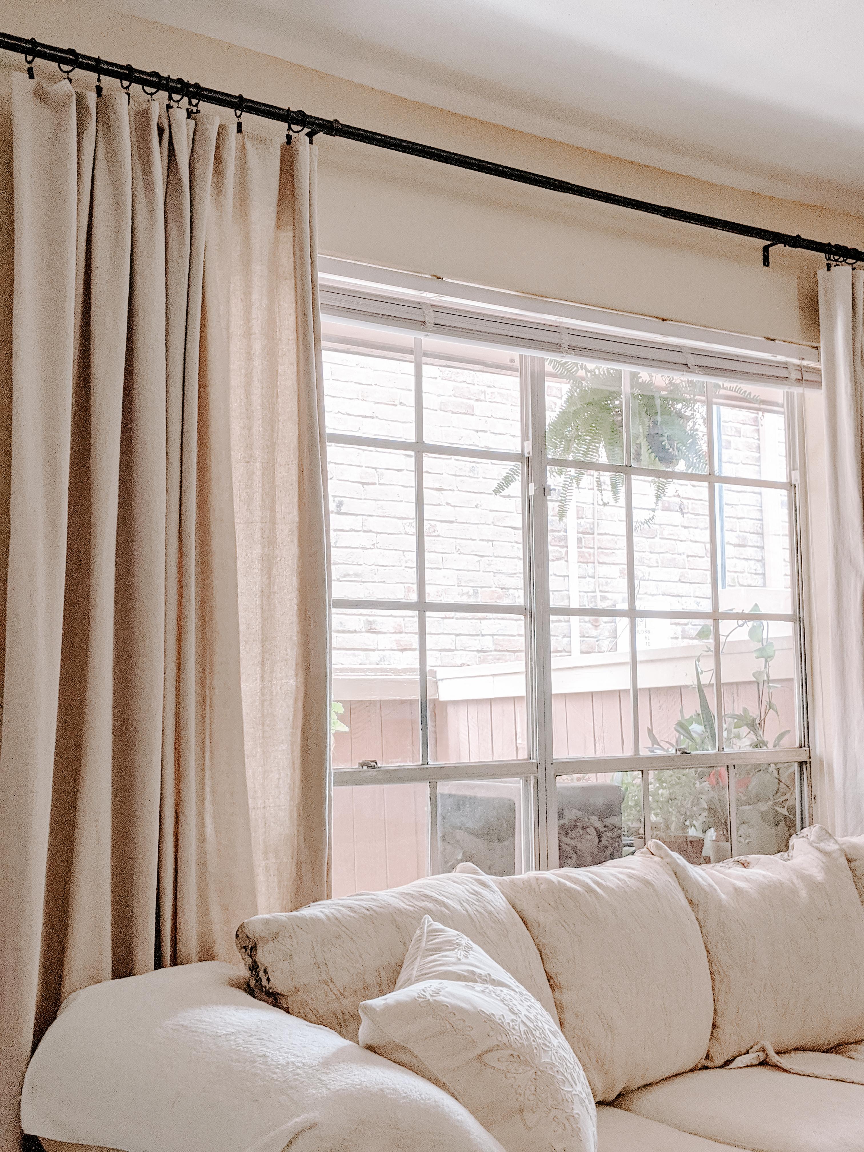 Diy No Sew Canvas Drop Cloth Curtains M E T H O D 3 1